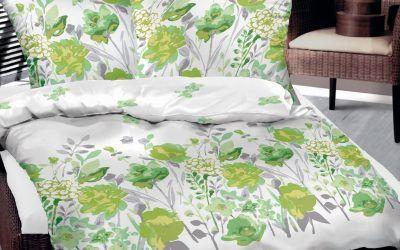 posciel bawelniana bielbaw 160x200 zielone kwiaty 400x250 Ranking pościeli Bielbaw